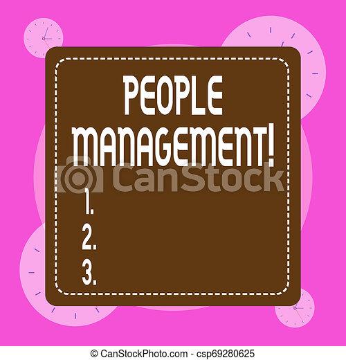 Escribir a mano conceptual mostrando la dirección de la gente. Una foto de negocios que muestra el proceso de desbloqueo y canalización de potenciales empleados. - csp69280625