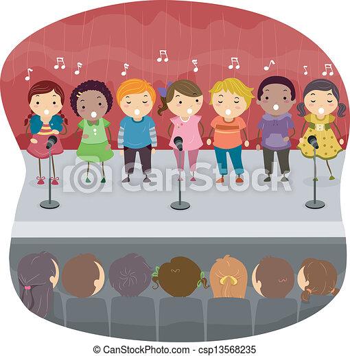 chant, gosses, onstage - csp13568235