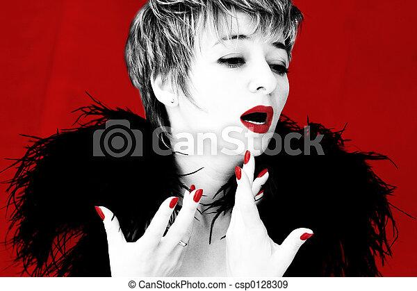 chanteur, dramatique - csp0128309