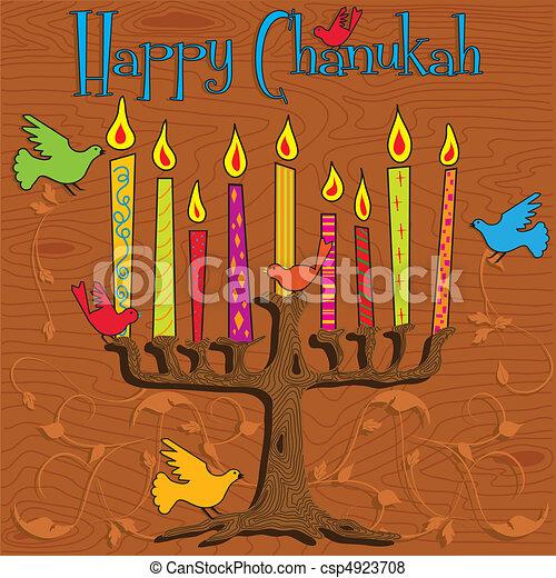 Chanukah Menorah - csp4923708