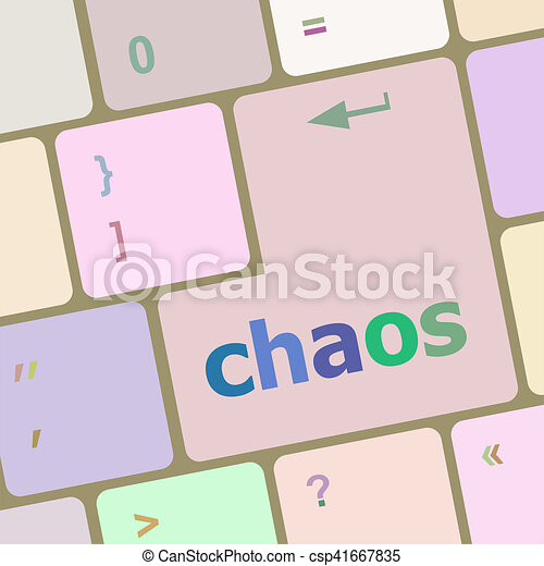 chaos keys on computer keyboard, business concept - csp41667835