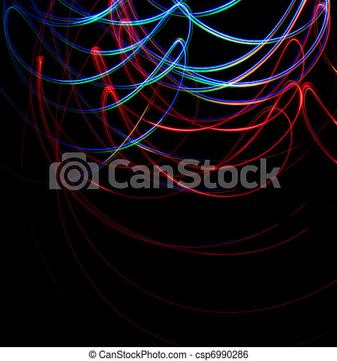 Chaotic colorful lights - csp6990286