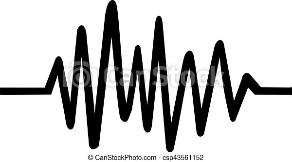 Chaotic Heartbeat line - csp43561152