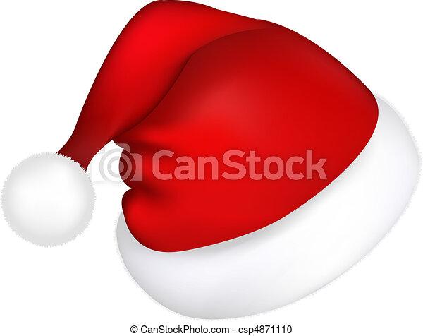 chapéu, santa - csp4871110