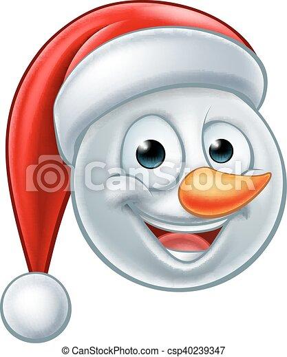 Chapeau Bonhomme Neige Noël Santa Emoji