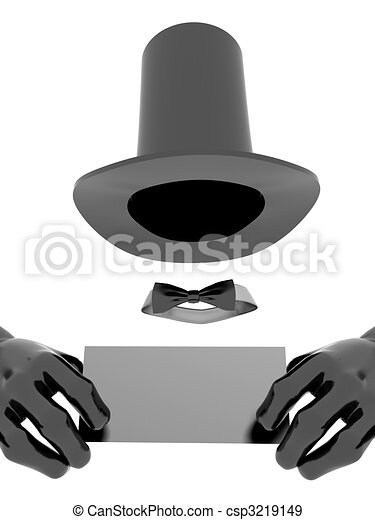 Illustration de chapeau magicien gants business noir carte blanc csp3219149 - Dessin de chapeau de magicien ...
