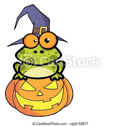 Chapeau magicien grenouille citrouille tachet porter s ance grenouille sorci re - Dessin de chapeau de magicien ...