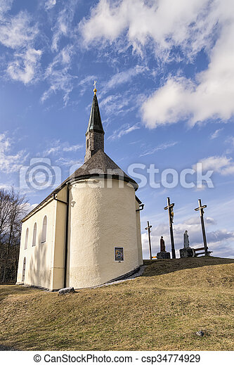 Chapel in Bavarian Alps - csp34774929