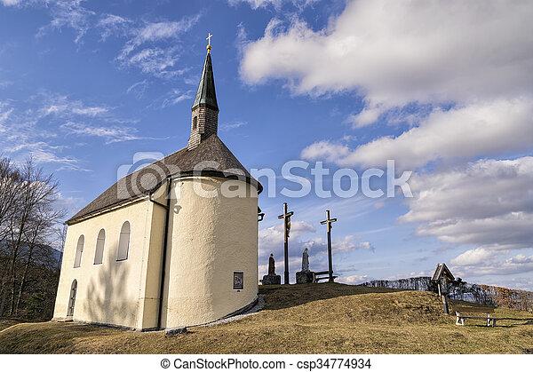 Chapel in Bavarian Alps - csp34774934