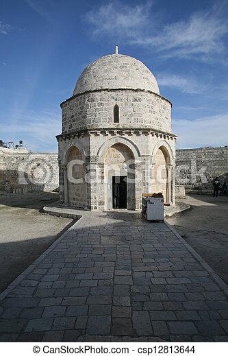 Chapel of the Ascension of Jesus Christ, Jerusalem - csp12813644