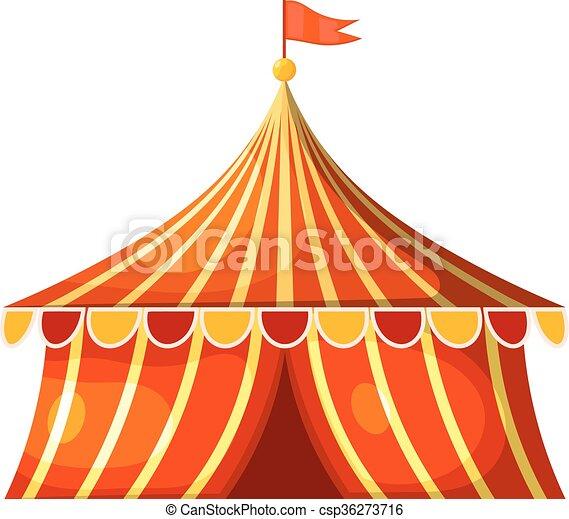 Chapiteau cirque illustration vecteur tent dessin anim - Dessin d un chapiteau de cirque ...