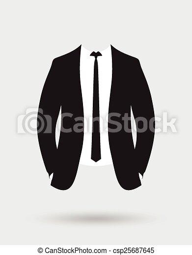 Traje de chaqueta de novios - csp25687645