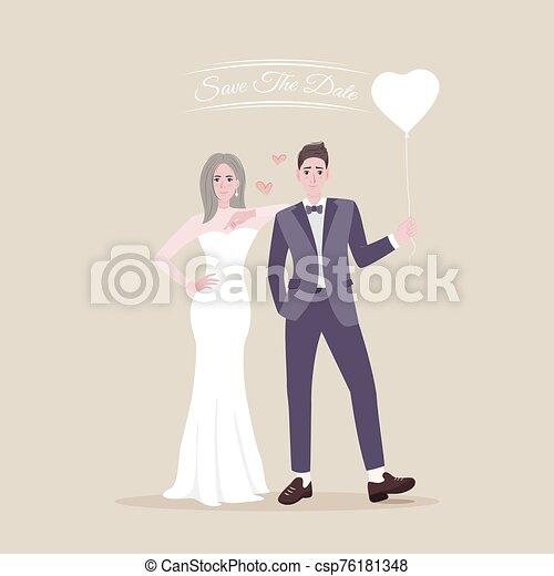 character., 恋人, 漫画, 結婚されている, ただ - csp76181348