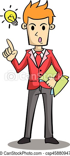 Character of businessman with idea - csp45880947