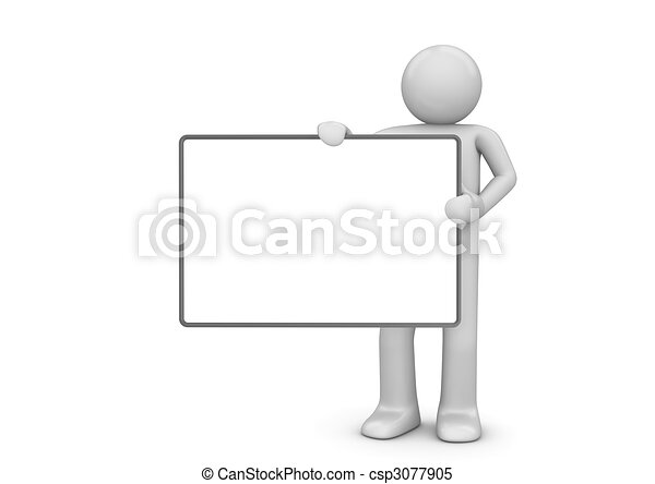 Character with copyspace - csp3077905