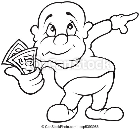 Character with Money - csp5393986