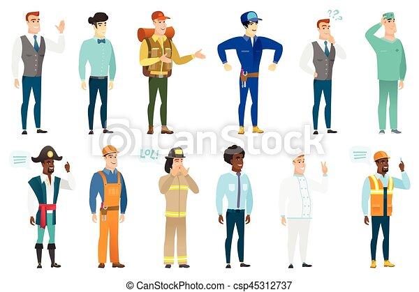 Personajes de profesión. - csp45312737