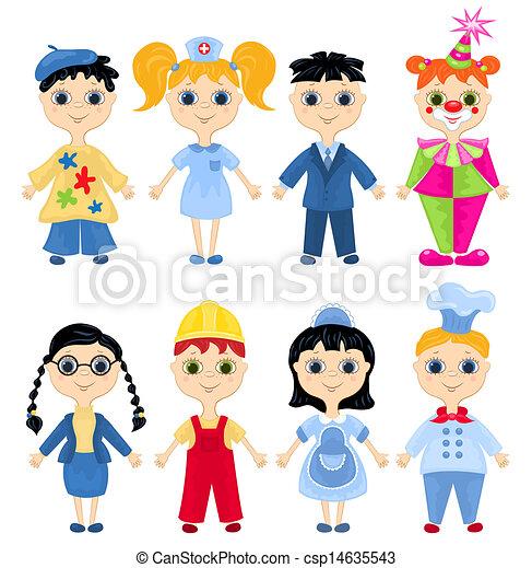 characters., satz, beruf, karikatur - csp14635543