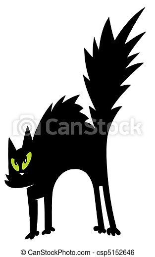 charactrer noir dessin anim chat noir effray vert. Black Bedroom Furniture Sets. Home Design Ideas