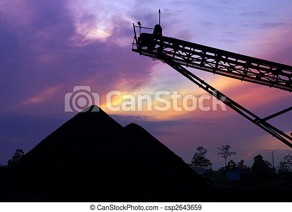 charbon, réserve, levers de soleil - csp2643659
