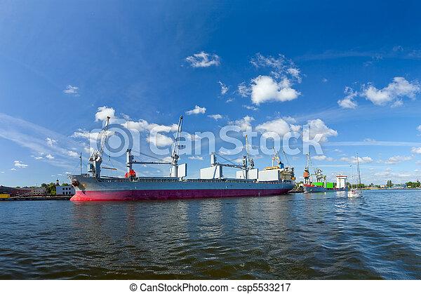 chargement, bateaux, sous - csp5533217