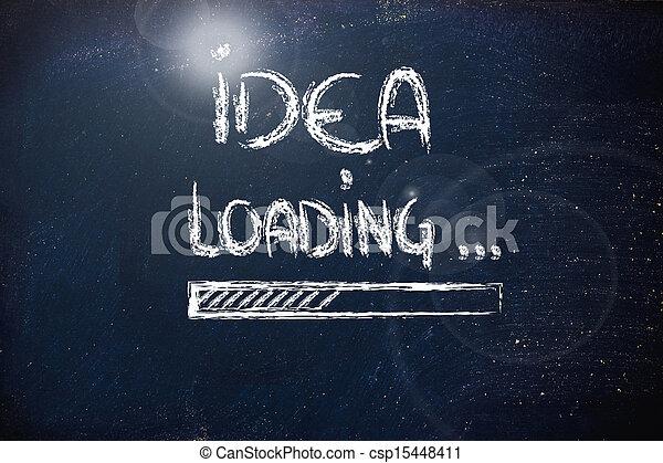 chargement, tableau noir, barre, idée, progrès - csp15448411