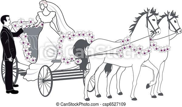 chariot, newlyweds - csp6527109