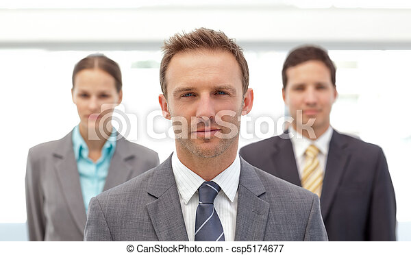 Charismatic manager posing  - csp5174677