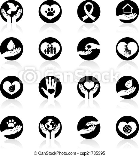 Charity and Donation Icons - csp21735395