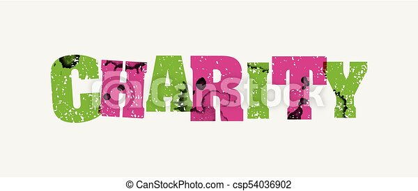 Charity Concept Stamped Word Art Illustration - csp54036902
