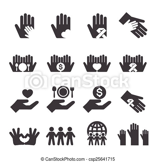Charity icons set - csp25641715