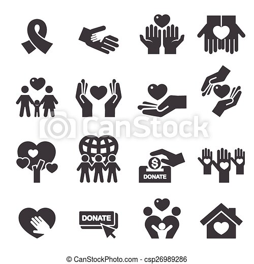 Charity Silhouette icons - csp26989286