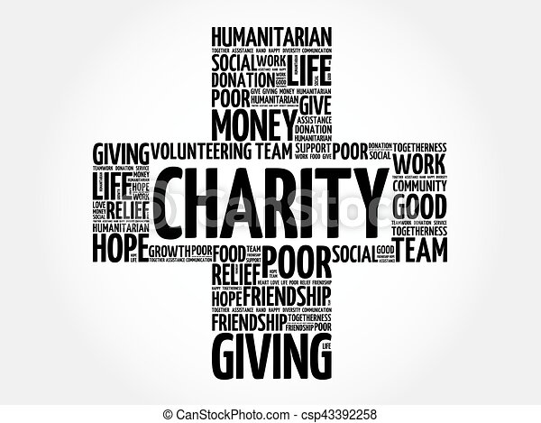 Charity word cloud collage - csp43392258
