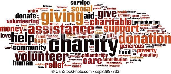 Charity word cloud - csp23997783