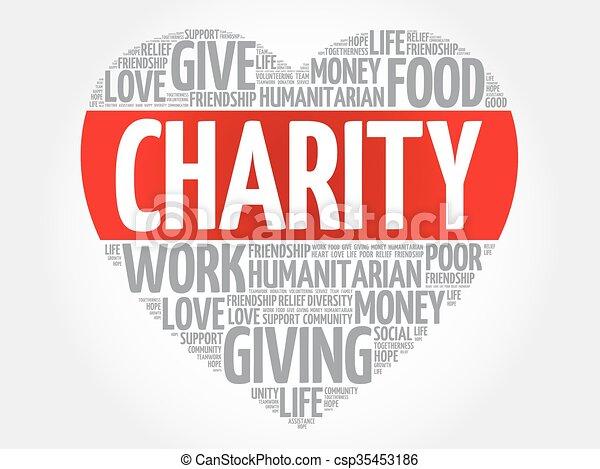 Charity word cloud - csp35453186