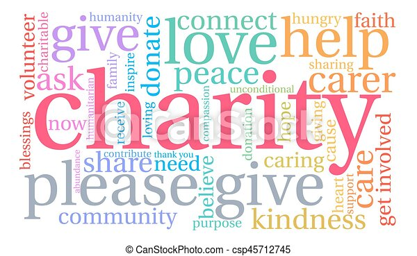 Charity Word Cloud - csp45712745