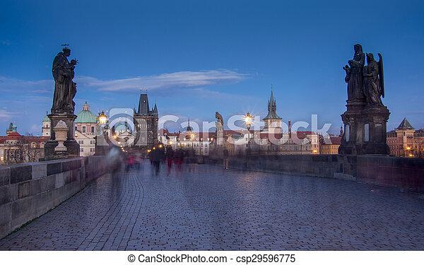 Charles Bridge in Prague - csp29596775