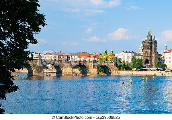 Charles Bridge in Prague - csp39509825
