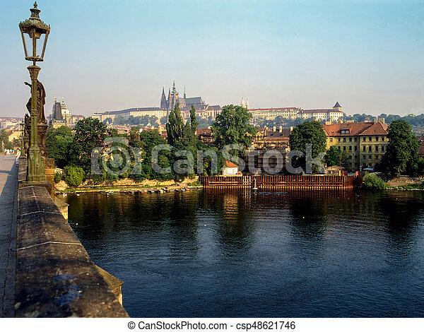 Charles Bridge in Prague - csp48621746
