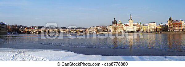 Charles Bridge in Prague - csp8778880