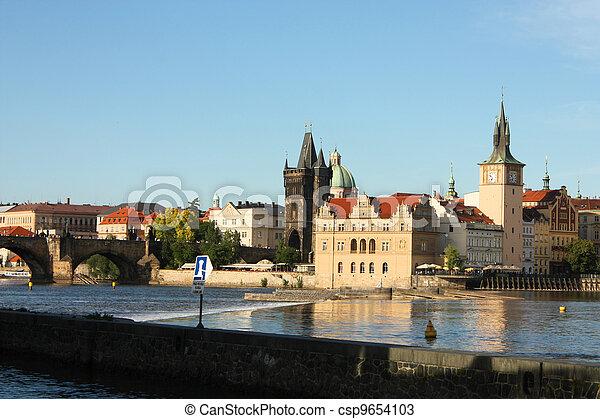 Charles bridge in Prague - csp9654103