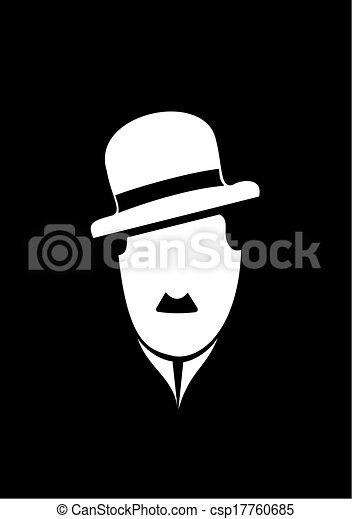 Charles Chaplin comedy vector symbo - csp17760685