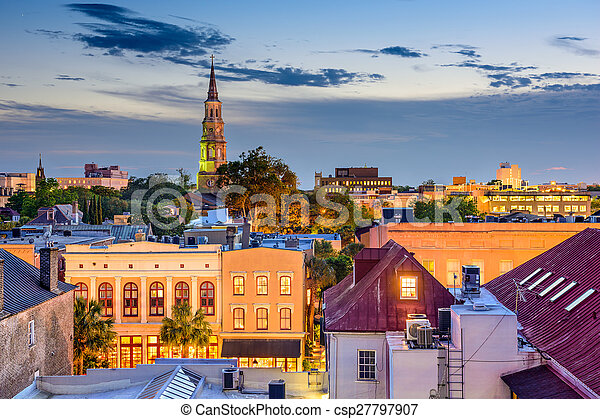 Charleston Cityscape - csp27797907