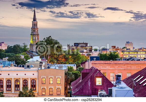 Charleston Skyline - csp28283294