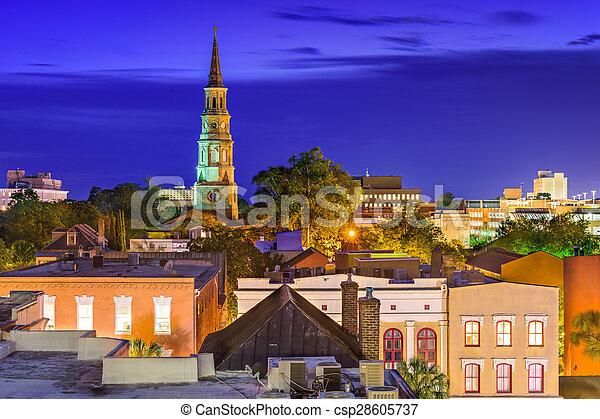 Charleston Skyline - csp28605737