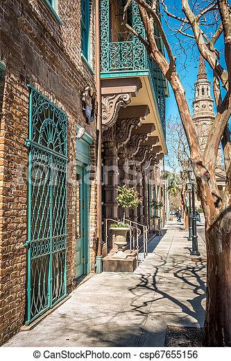 Charleston south carolina historic architecture - csp67655156