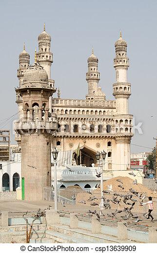 Charminar, Hyderabad from Mecca Mas - csp13639909