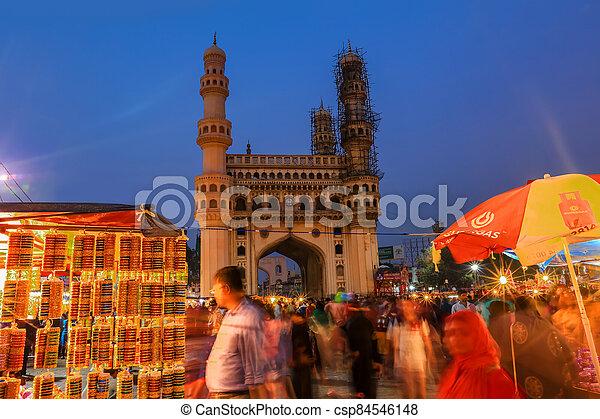 Charminar in Hyderabad - csp84546148