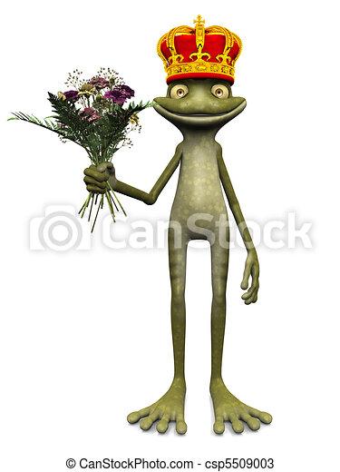 Charming cartoon frog prince. - csp5509003