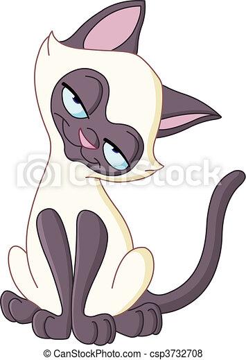 Charming cat - csp3732708